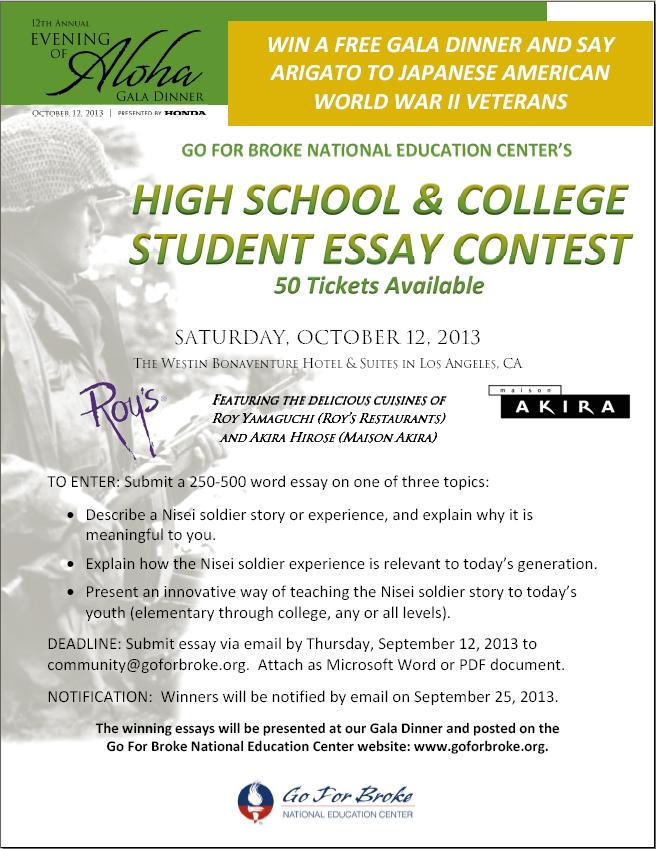 High school essay contest 2013